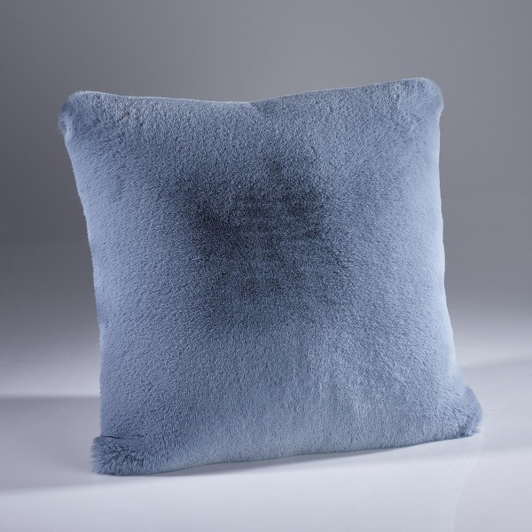 The Home Furnishings Company Soft Blue Luxury Faux Fur Cushion 45x45cms