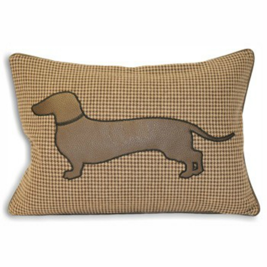 The Home Furnishings Company Brown Sausage Dog Cushion with luxury feather pad 35x50cms