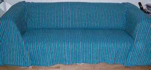 The Home Furnishings Company Cotton Jade/Green/Blue/Rust 3 Seater or large 2 Seater Sofa Throw 225 x 250 cms