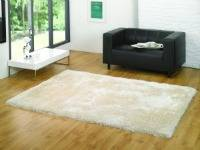 The Home Furnishings Company NATURAL/IVORY LUXURY SOFT SHAG PILE SUPERSIZE RUG 200X290 CMS - ONLY £229