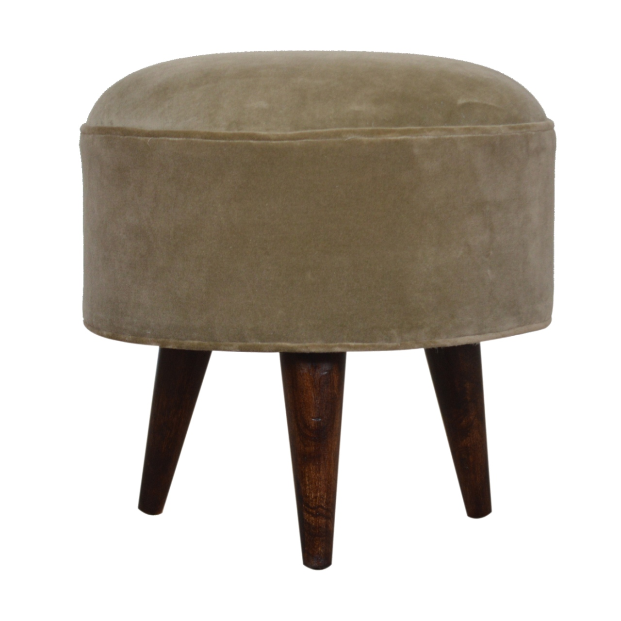 The Home Furnishings Company Mocha Velvet Foot Rest Stool