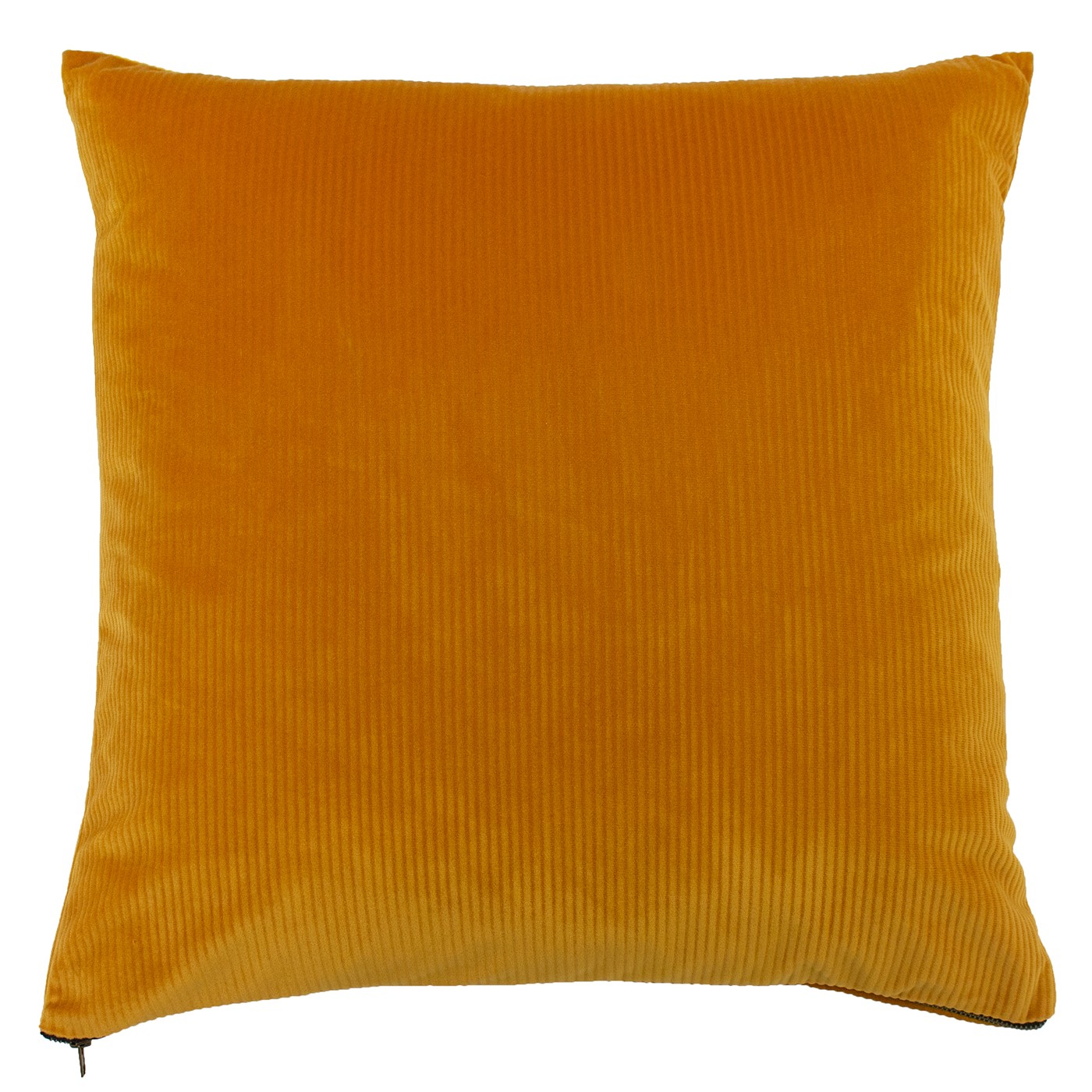 The Home Furnishings Company Aurora Ochre Velvet Corduroy Cushion 45x45cms