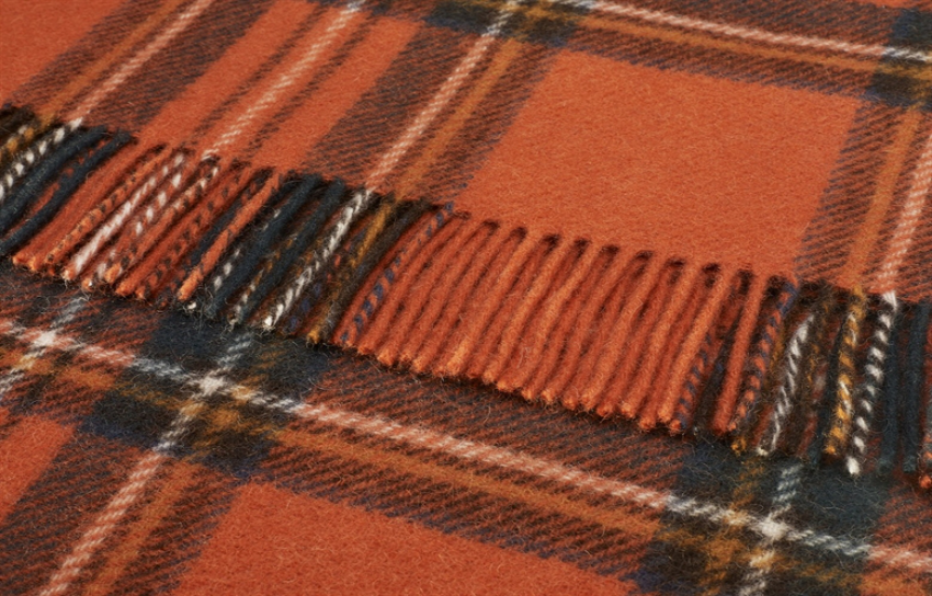 The Home Furnishings Company Pure Wool Antique Royal Stewart Tartan Throw 140x180 cms
