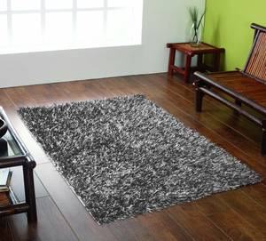 The Home Furnishings Company SILVER GREY SHAGGY RUG 110X160 CMS - ONLY £69