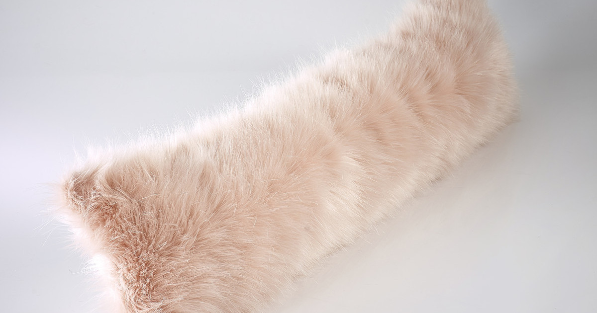 The Home Furnishings Company Rose Pink Luxury Faux Fur Draught Excluder 100x22cms