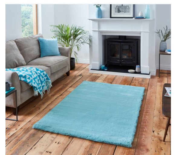 The Home Furnishings Company Teddy Blue Rugs