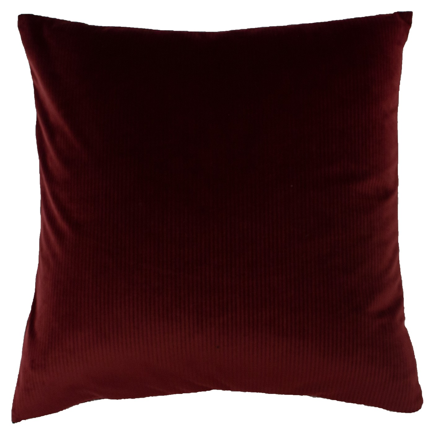 The Home Furnishings Company Aurora Ox Blood Velvet Corduroy Cushion 45x45cms