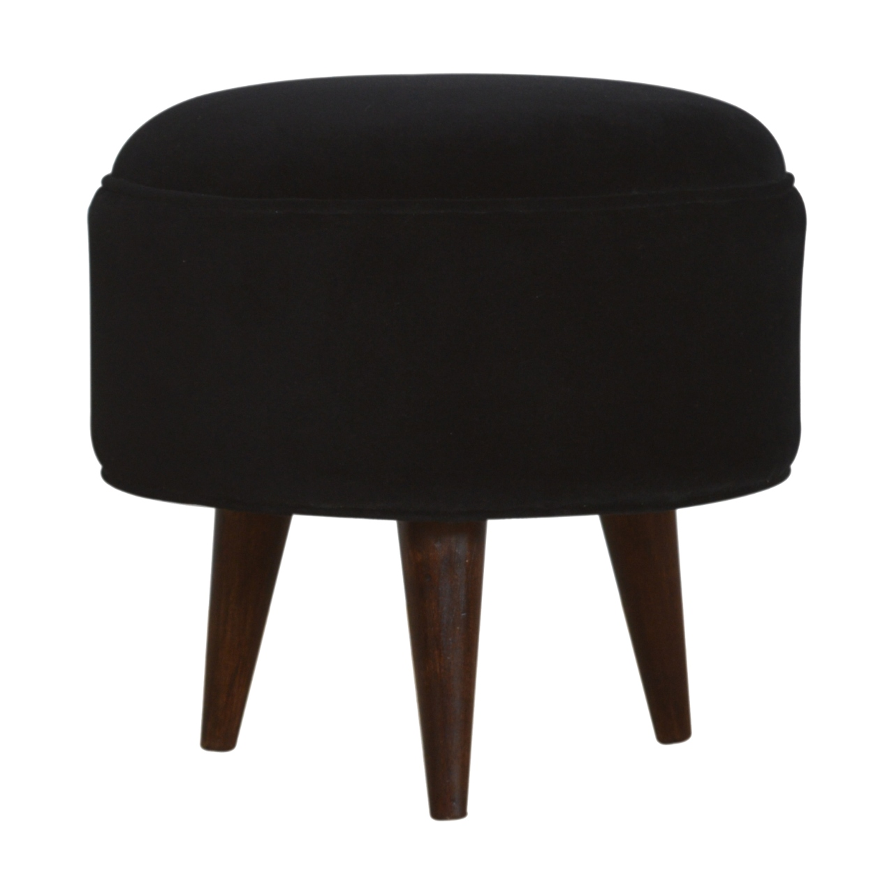 The Home Furnishings Company Black Velvet Nordic Foot Rest Stool