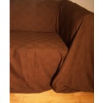 The Home Furnishings Company 100% Cotton Dark Brown Armchair or 2 Seater Sofa Throw 180x250 cms