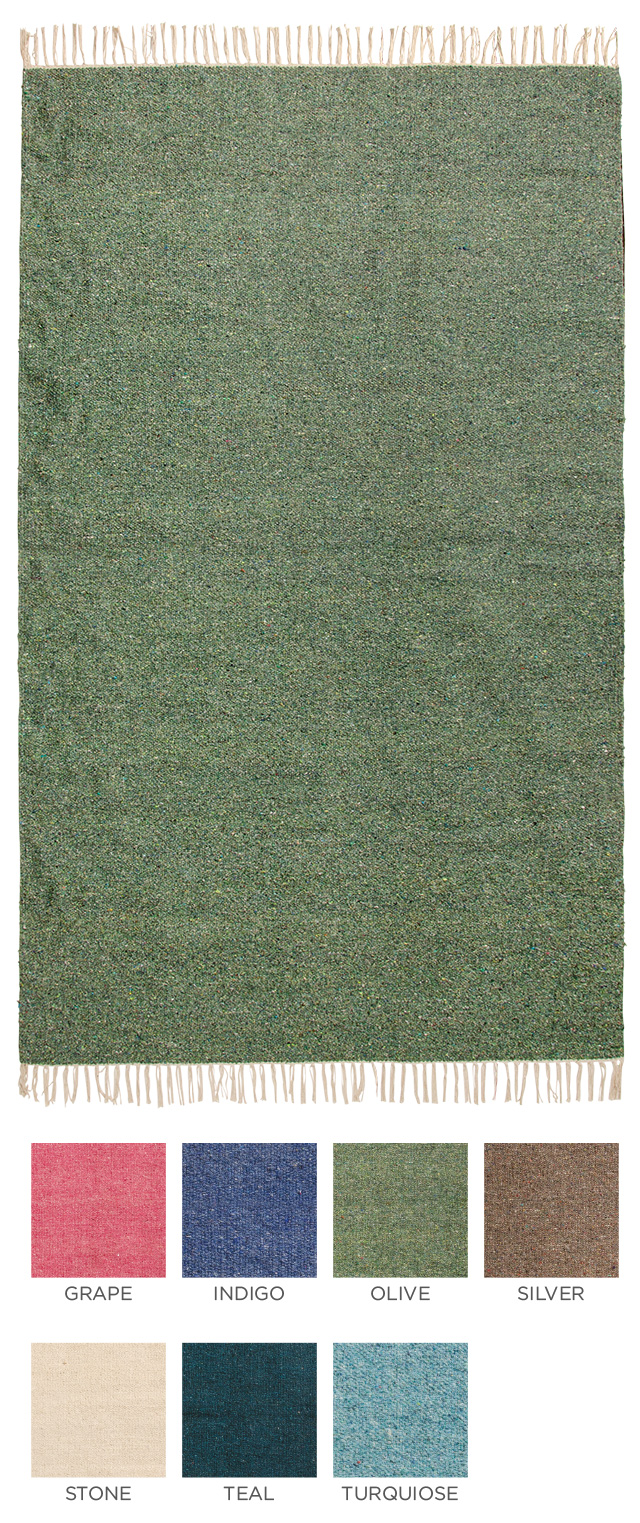 The Home Furnishings Company Large Plain Recycled Cotton Rugs in 7 colours 120x180cms