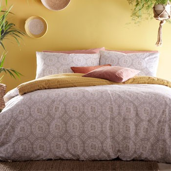 The Home Furnishings Company Mandala Duvet Cover and Matching Pillow Cases