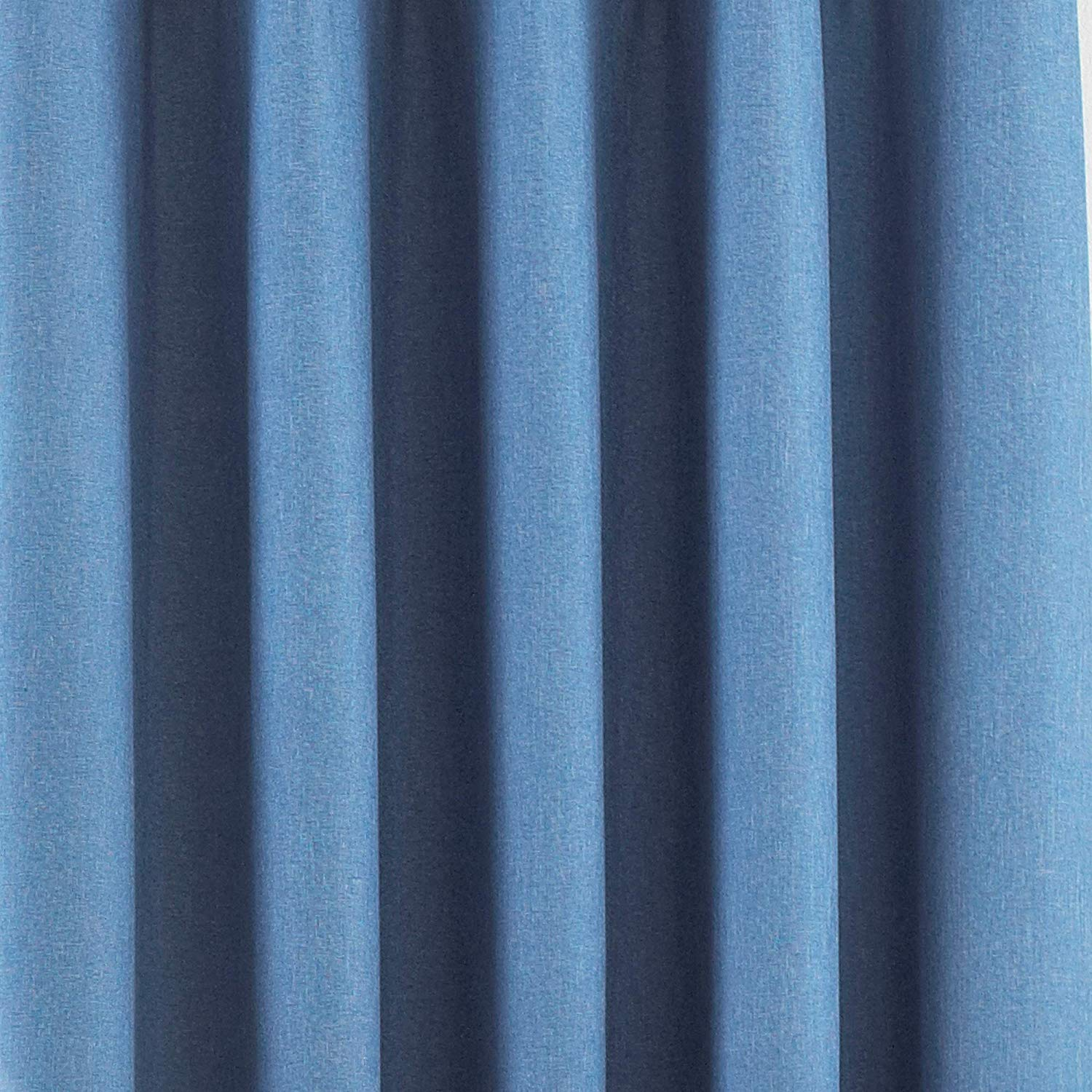 The Home Furnishings Company Denim Eyelet Blackout Curtains, Blind and Cushion