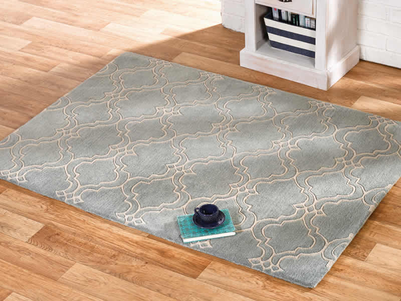 The Home Furnishings Company Casablanca Duck Egg Luxury Wool  Large Rug 160x230cms
