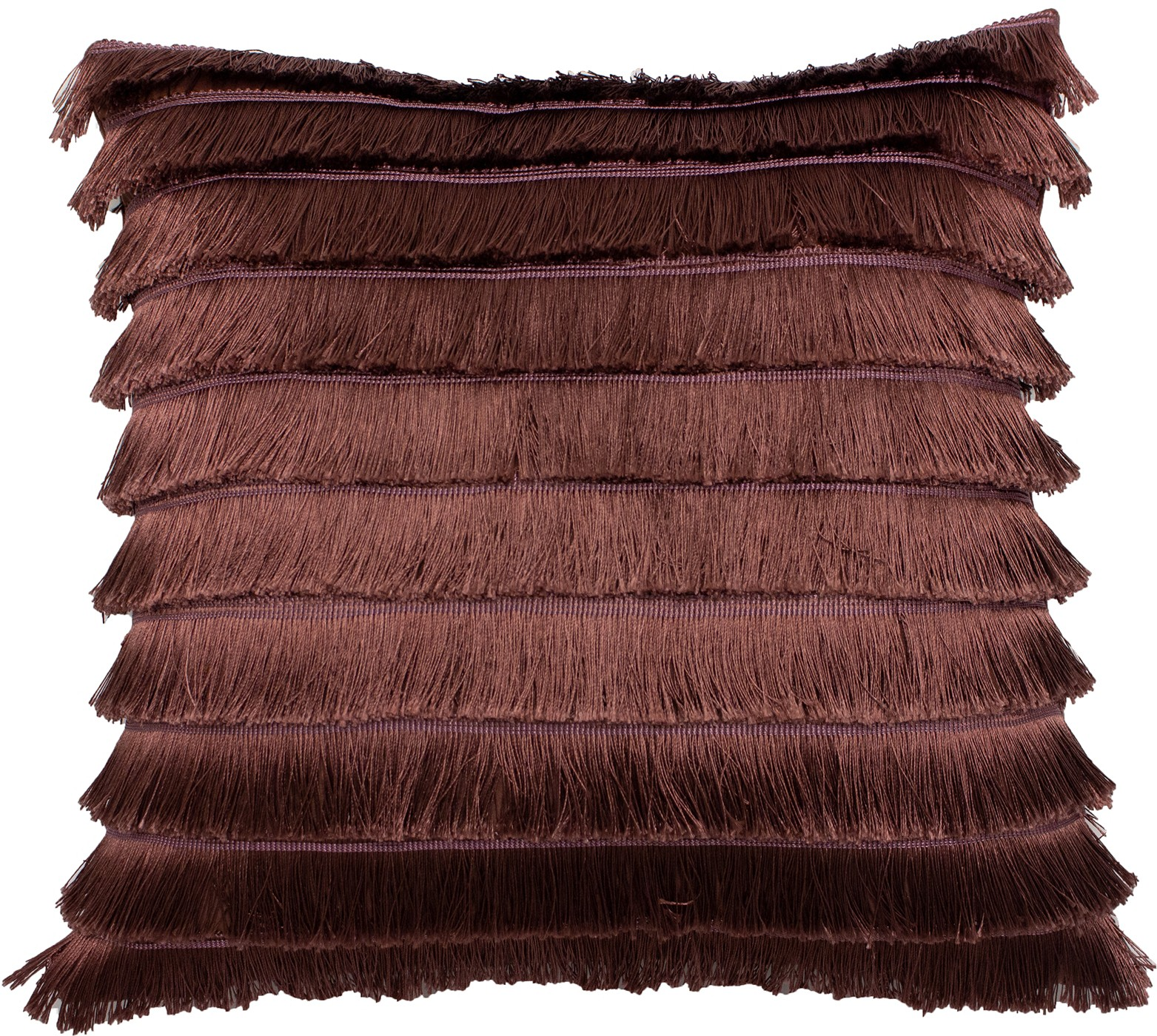 The Home Furnishings Company Flicker Rose Fringed  Cushion 45x45cms