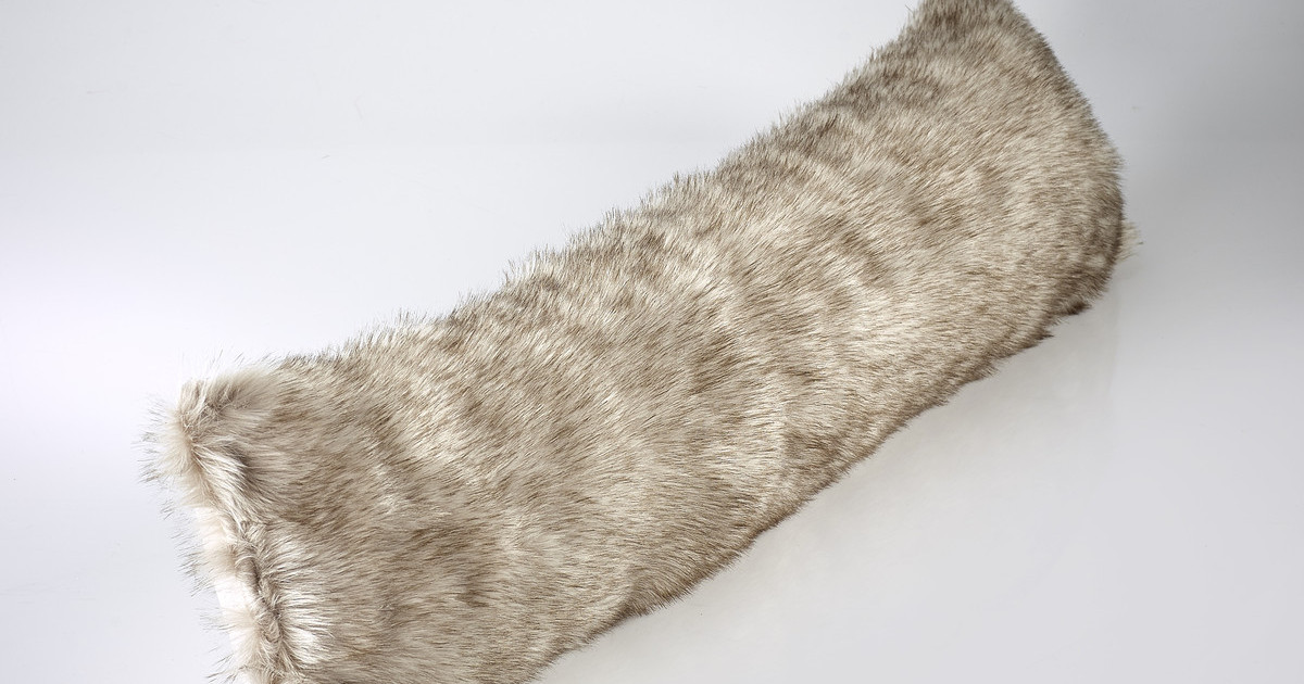 The Home Furnishings Company Siberian Wolf Faux Fur Draught Excluder 100x22cms