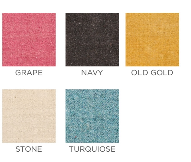 The Home Furnishings Company Plain Recycled Cotton Rugs in 5 colours 75x135cms