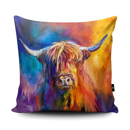 The Home Furnishings Company Harris Highland Cow Giant Floor Cushion and Scatter Cushions