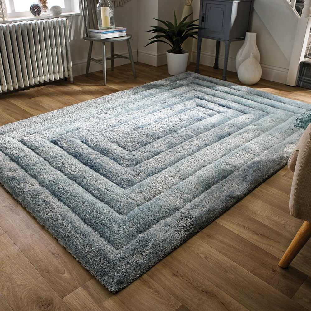 The Home Furnishings Company Ridge Duck Egg Rug 160x230cms