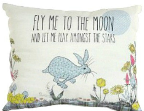 The Home Furnishings Company Fly me to the Moon and let me Play  amongst dteh Stars Cushion