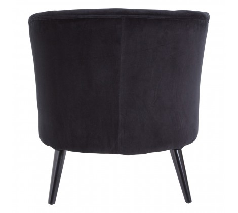 The Home Furnishings Company Black Round Armchair