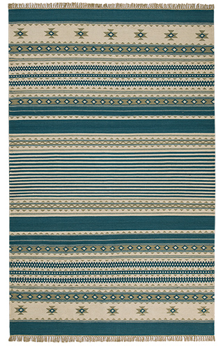 The Home Furnishings Company Teal Kilim Rugs and Runners