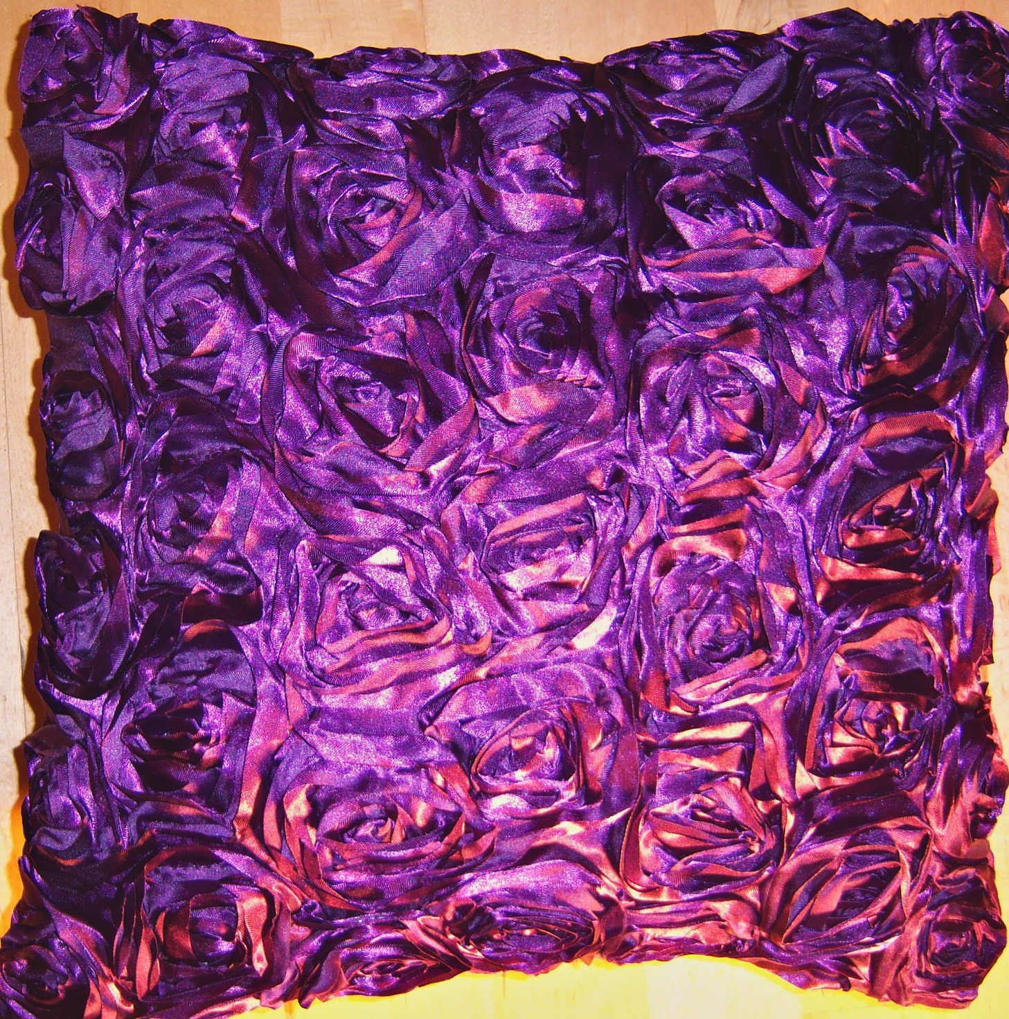 The Home Furnishings Company Purple Rose Tafffeta Style Cushion 43x43 cms only £9.99  each