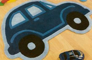 The Home Furnishings Company Blue VW Volkswagen Beetle Car Design Rug 100 x100 cms
