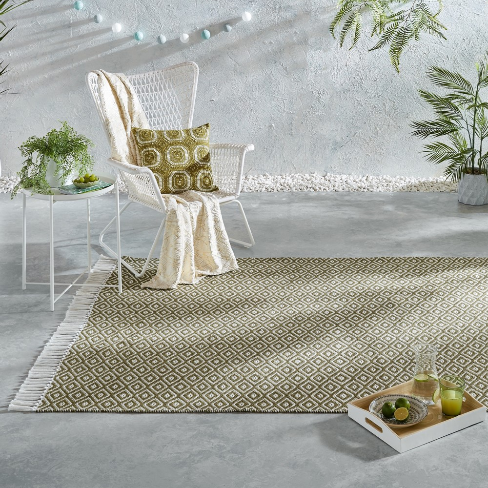The Home Furnishings Company Green Recycled Yarn Rugs and Runner