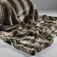 The Home Furnishings Company Alaska Rabbit Luxury  Faux Fur Throws and Cushions