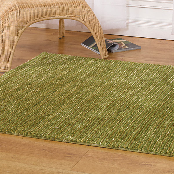 The Home Furnishings Company Neptune Striped Rug 80x150ms - Choice of 3 Colours -  Green, Purple  or Blue
