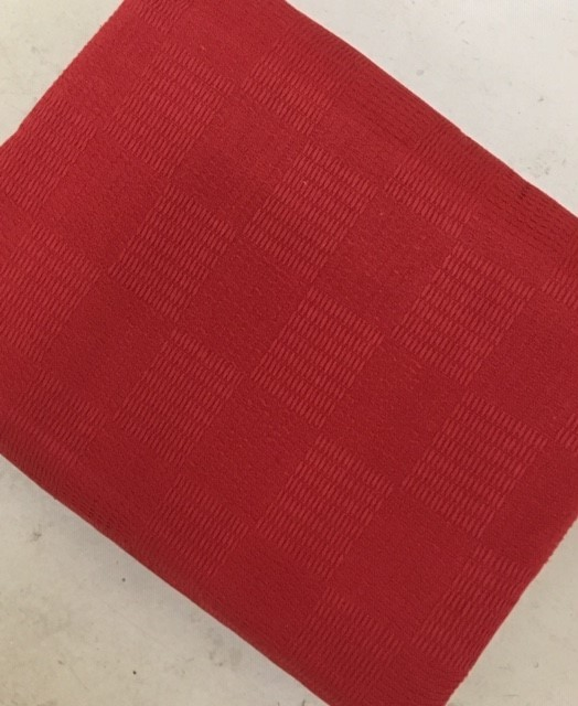 The Home Furnishings Company 100% Cotton Red Throw 130X150 cms  Ideal for Chairs, Pouffees , Beds and Sofas- SPECIAL OFFER £12.9