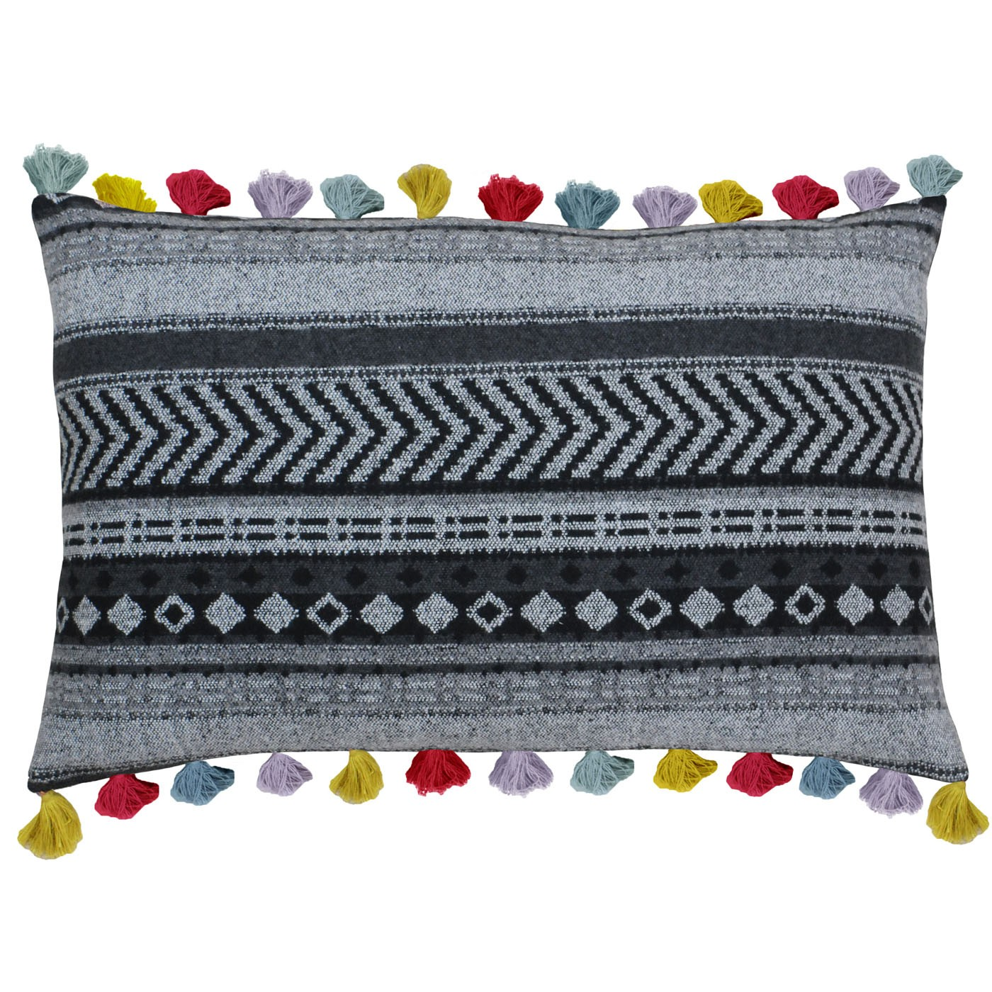 The Home Furnishings Company Peru Tasselled Cushion 40x60cms including inner pad