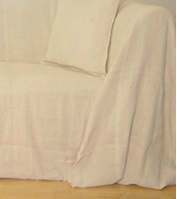 The Home Furnishings Company 100% Cotton Natural/Cream Throws - for all sizes sofas, charis, beds