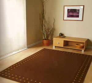 The Home Furnishings Company Brown Rug 160 x 230 cms.  Natural Flooring/Matting Style. Easy to Clean.