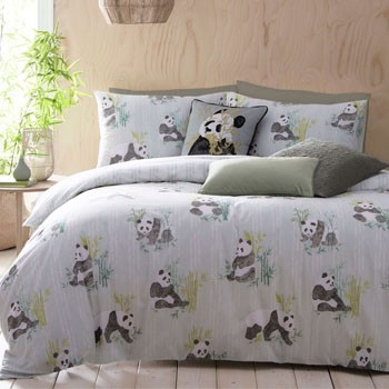 The Home Furnishings Company Panda Duvet Set